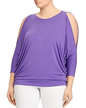 Lauren Ralph Lauren Plus Cold Shoulder Jersey Top