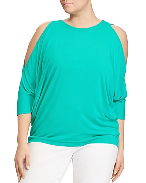 Lauren Ralph Lauren Plus Cold Shoulder Jersey Top