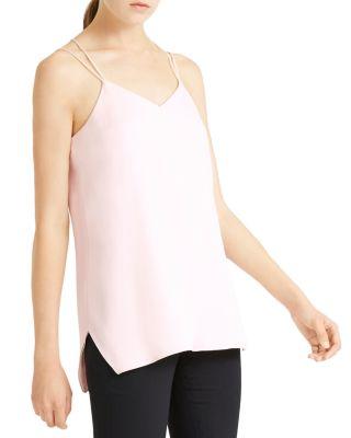 Halston Heritage Womens Sleeveless Double-Strap Cami