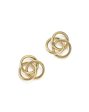14K Yellow Gold Large Love Knot Stud Earrings - 100% Exclusive