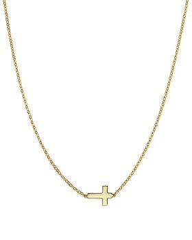 Bloomingdale's - 14K Yellow Gold Small Cross Necklace, 18 - 100% Exclusive