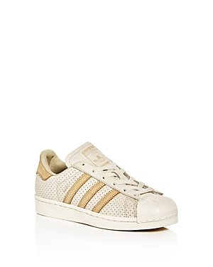 Adidas Boys Superstar Perforated Lace Up Sneakers  Big Kid