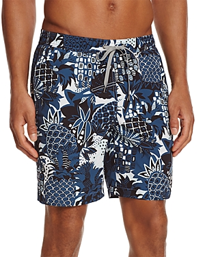 Onia Vintage Pineapple Charles Swim Trunks