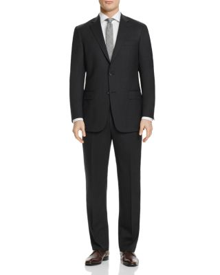 HART SCHAFFNER MARX New York Classic Fit Solid Stretch Wool Suit in Grey