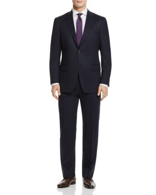 HART SCHAFFNER MARX New York Classic Fit Solid Stretch Wool Suit in Navy