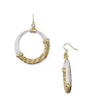 Alexis Bittar Woven Raffia Drop Earrings