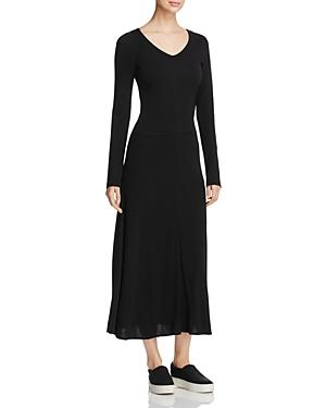 Dkny Long Sleeve V-Neck Dress