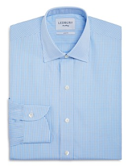 Ledbury - Small Gingham Check Slim Fit Dress Shirt