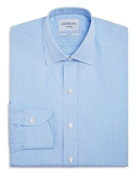 Ledbury - Small Gingham Check Slim Fit Dress Shirt