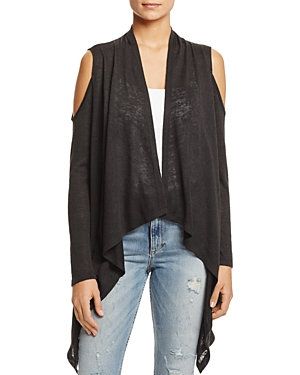 Sioni Cold Shoulder High/Low Cardigan