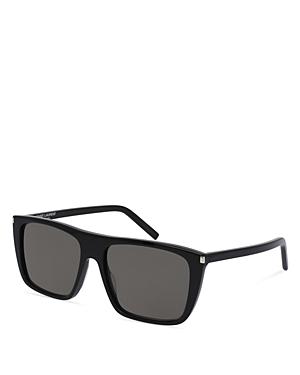 Saint Laurent Men's SL156 Rectangle Sunglasses, 56mm