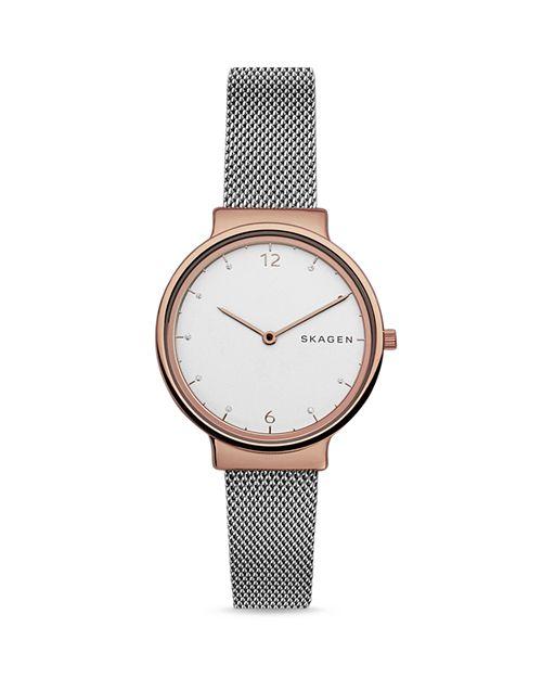 Skagen - Ancher Two-Tone Mesh Bracelet Watch, 34mm
