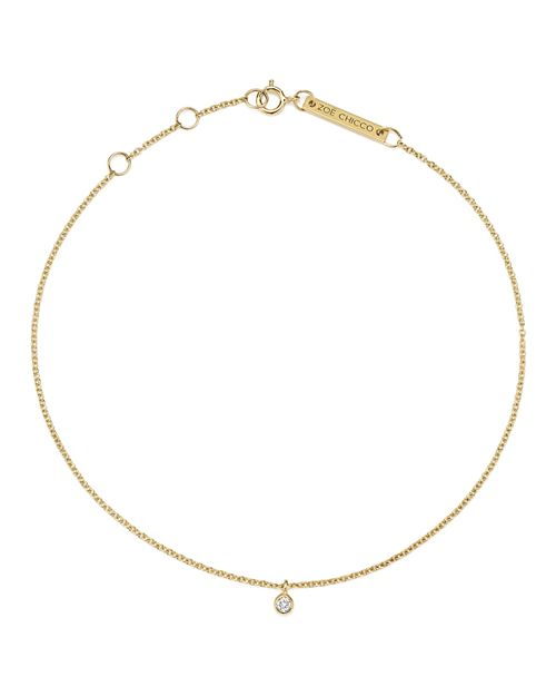 Zoë Chicco - 14K Yellow Gold Diamond Charm Anklet