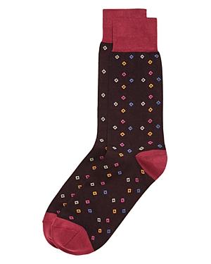 Bruno Magli Multicolor Diamonds Socks