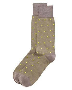 Bruno Magli Dots Socks