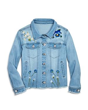 Aqua Girls' Embroidered Denim Jacket, Big Kid - 100% Exclusive