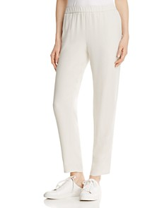 Eileen Fisher - System Slouchy Silk Ankle Pants