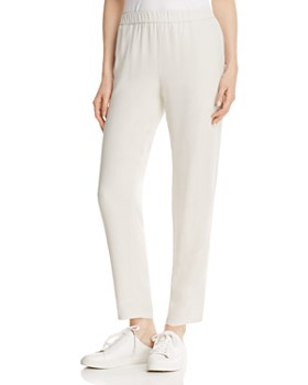 Eileen Fisher - Slouchy Silk Ankle Pants, Regular & Petite