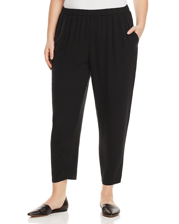Eileen Fisher Plus - System Silk Slouchy Ankle Pants