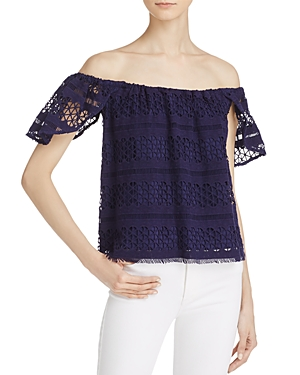 Aqua Crochet Off-the-Shoulder Top - 100% Exclusive