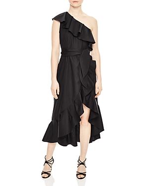 Sandro Lover Ruffled One-Shoulder Dress