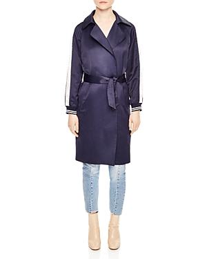 Sandro Message Bomber-Style Trench Coat