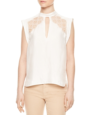 Sandro Vally Lace-Inset Top
