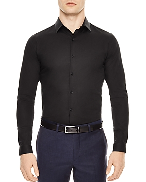 Sandro Seamless Stretch Slim Fit Button-Down Shirt