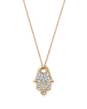 Adina reyter 14k yellow gold pav diamond hamsa pendant necklace adina reyter 14k yellow gold pav diamond hamsa pendant necklace 15 mozeypictures Gallery