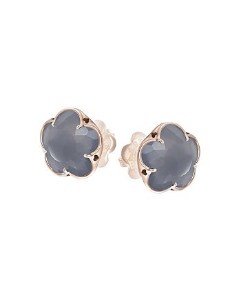 Pasquale Bruni - 18K Rose Gold Grey Agate Floral Stud Earrings