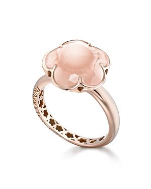Pasquale Bruni 18K Rose Gold Floral Rose Quartz Ring