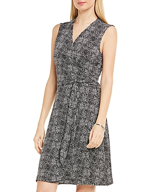 Vince Camuto Pebble Print Wrap Dress