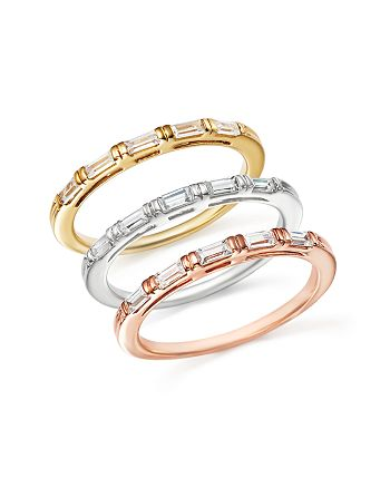 Bloomingdale's - Diamond Baguette Stacking Band in 14K Gold, .25 ct. t.w. - 100% Exclusive