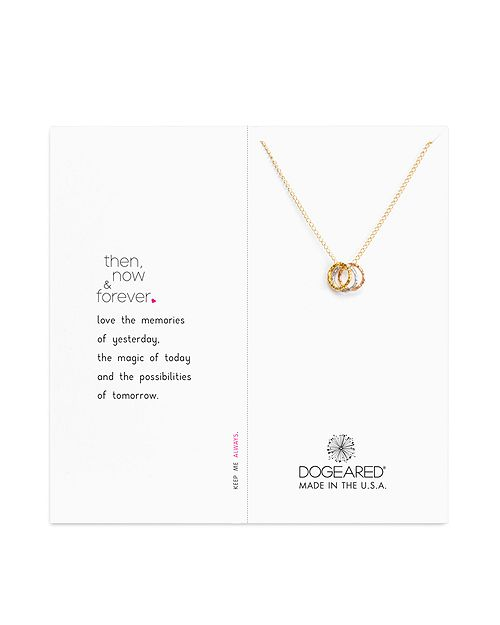 """Dogeared - Then Now Forever Necklace, 18"""""""