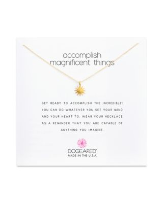 DOGEARED Accomplish Magnificent Things Necklace, 16 in Gold