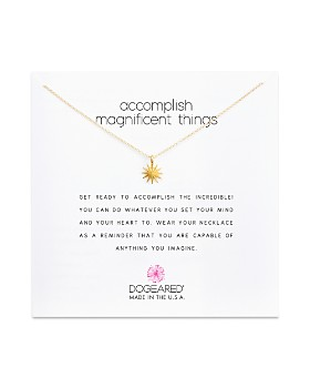 """Dogeared - Accomplish Magnificent Things Necklace, 16"""""""