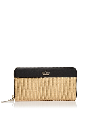 kate spade new york Cameron Street Lacey Straw Wallet