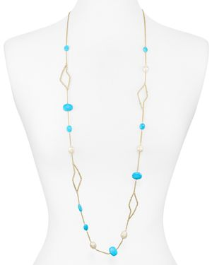 Alexis Bittar Encased Stone Station Necklace, 42