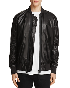 Helmut Lang Lamb Leather Bomber Jacket