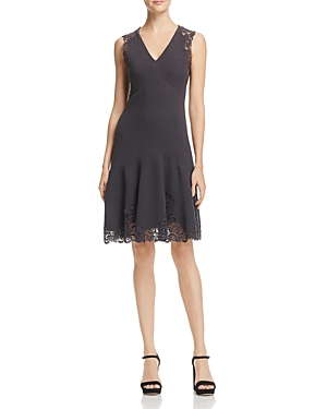 Rebecca Taylor Eliza Lace-Trim Dress