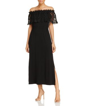 Design History Off-the-Shoulder Lace Maxi Dress