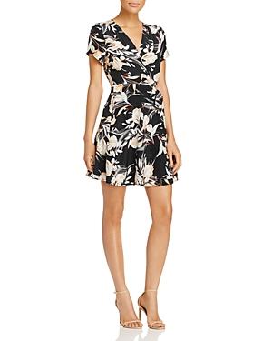 Yumi Kim Kennedy Floral Print Mini Wrap Dress