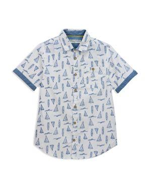Sovereign Code Boys' Sailboat Print Button Down Shirt - Little Kid