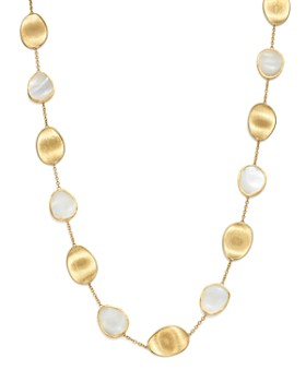 """Marco Bicego - 18K Yellow Gold Lunaria Mother-of-Pearl Collar Necklace, 16"""""""
