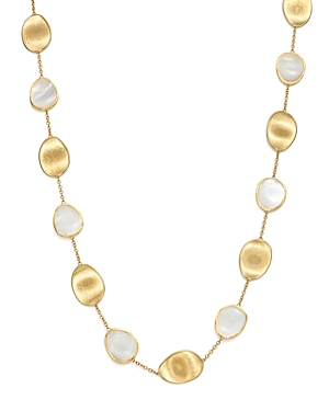 Marco Bicego 18K Yellow Gold Lunaria Mother-of-Pearl Collar Necklace, 16
