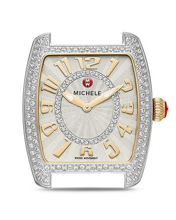 MICHELE - Urban Mini Two-Tone Diamond Dial Watch Head, 29 x 30mm
