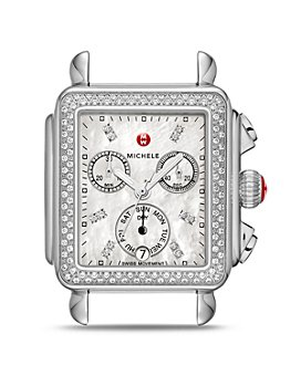 MICHELE - Deco Diamond Dial Watch Head, 33mm x 35mm