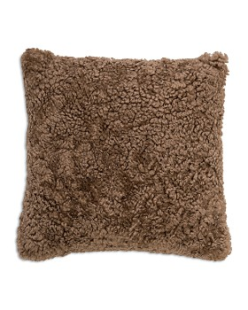 "Bloomingville - Mongolian Sheep Fur Pillow, 18"" x 18"""
