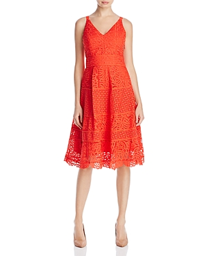 Adelyn Rae Laureen Lace Fit-and-Flare Dress