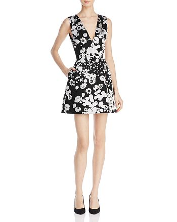 Alice and Olivia - Patty V-Neck Lantern Dress